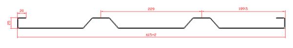 Панель борта стальная L=6500, H=600 чертеж