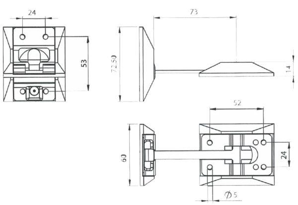 Фиксатор Т-образный чертеж