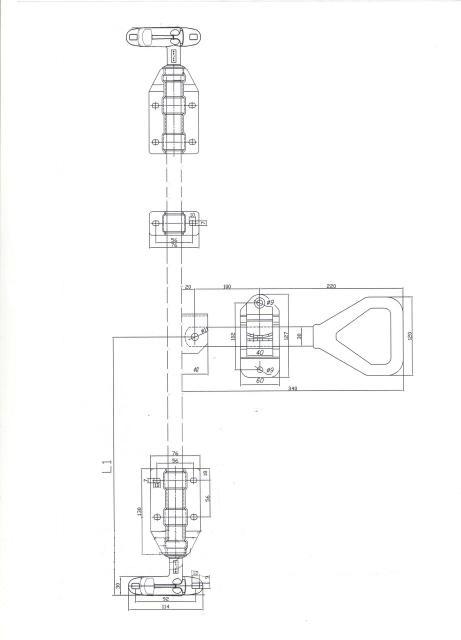 Замок штанговый d22 дельта ручка чертеж