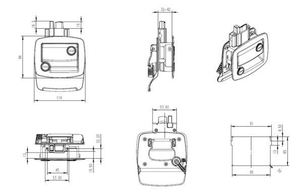 Замок для спецтехники чертеж